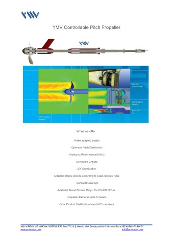 YMV Controllable Pitch Propeller