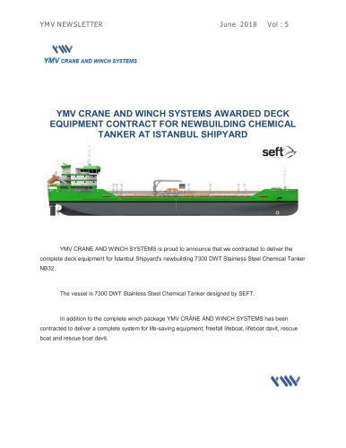 YMV CRANE AND WINCH SYSTEMS Newsletter 5-2018