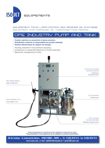 DPE INDUSTRY PUMP AND TANK