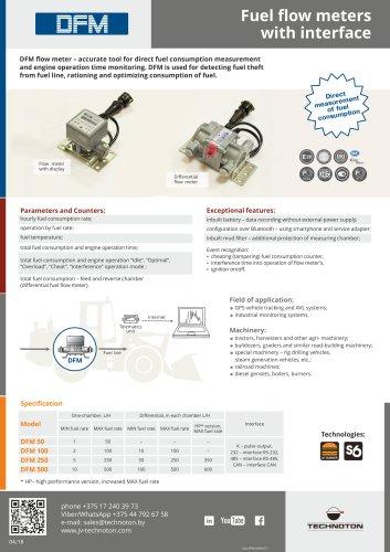 DFM Fuel flow meter