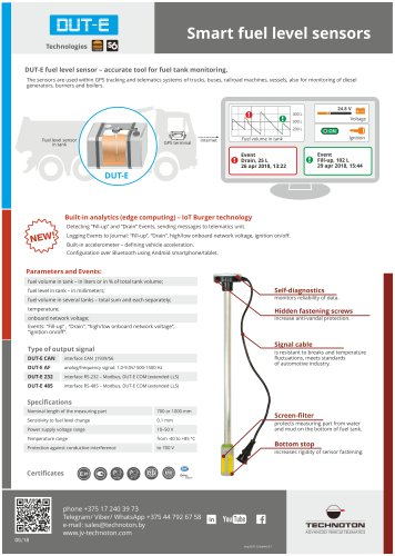 DUT-E fuel level sensor