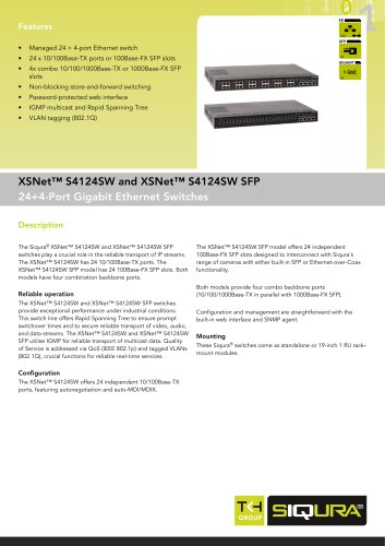 XSNet S4124 SW - 24+4-Port Gigabit Ethernet Switches