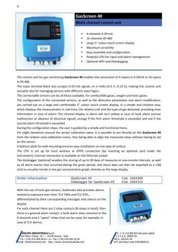 Gas Screen 40 control unit