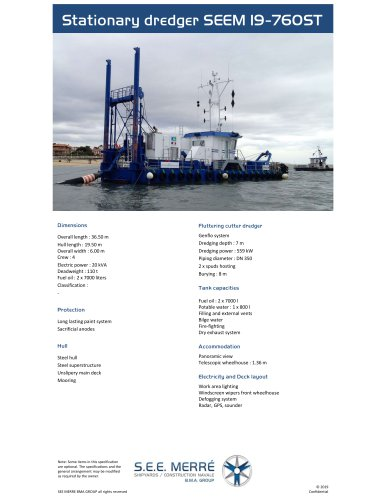 Stationary dredger SEEM 19-760ST