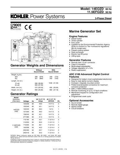 14EOZD 60 Hz / 11.5EFOZD 50 Hz