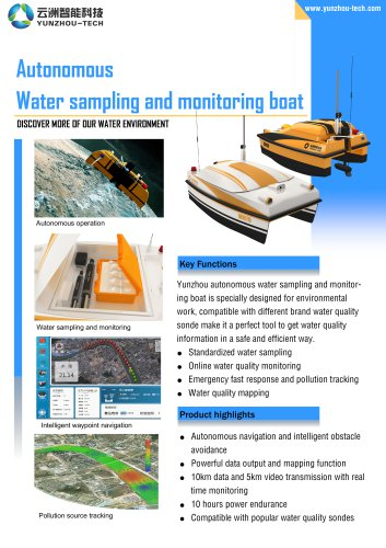 USV ESM30 for Water Quality Sampling & Monitoring
