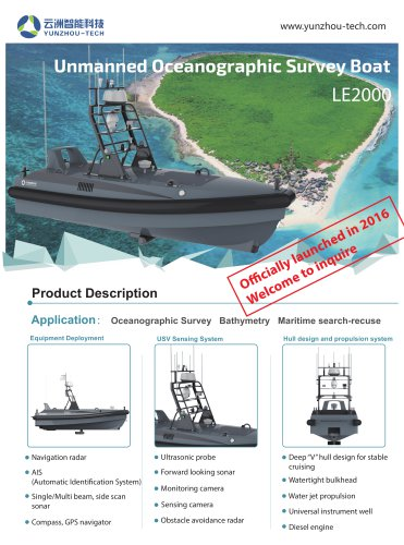 USV LE2000 for Oceangraphic Survey