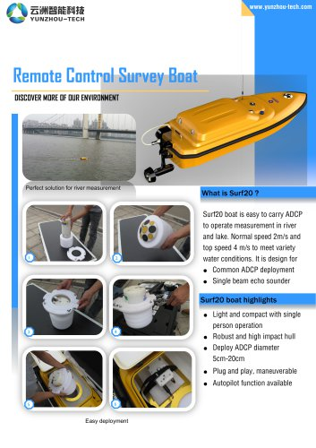 USV Surf20 for ADCP Water flow measurement