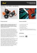 WOLFLITE® H-251MK2 HANDLAMP PRODUCT INFORMATION SHEET