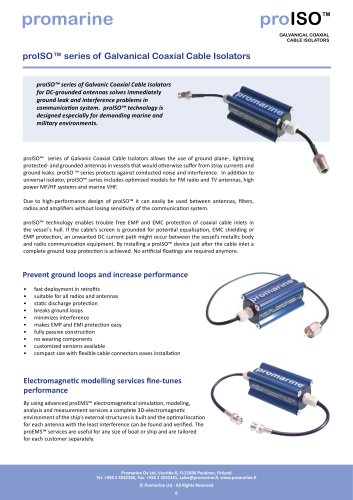 proISO™ series of Galvanical Coaxial Cable Isolators