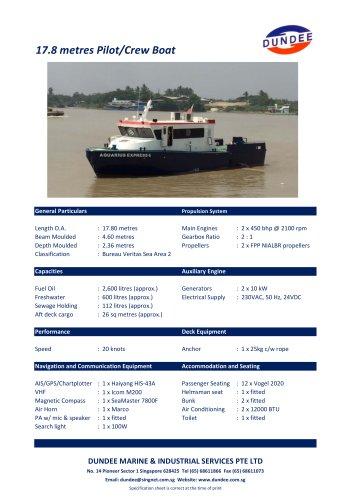 17m Pilot Launch / Crewboat