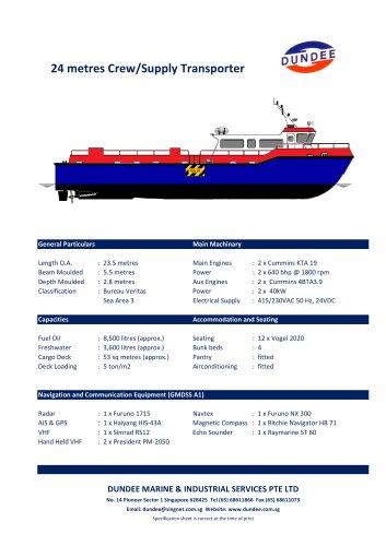 24m Fast Crew Boat / Supply Transporter