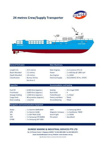 24m Fast Crewboat / Supply Transporter
