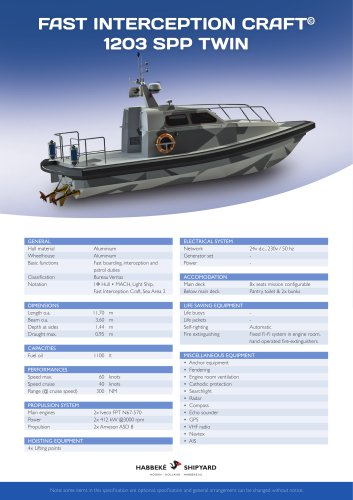 Fast Interception Craft 1203 SPP Twin