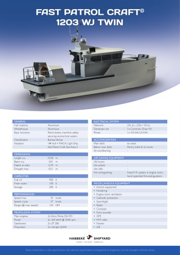 Fast Patrol Craft 1203 WJ Twin
