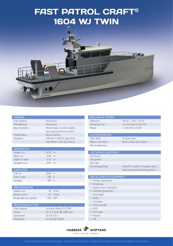 Fast Patrol Craft 1604 WJ Twin