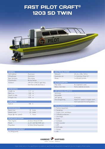 Fast Pilot Craft 1203 SD Twin