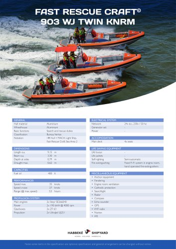 Fast Rescue Craft 903 WJ twin KNRM