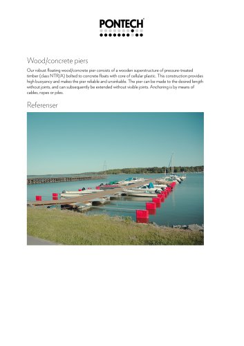 Wood/concrete piers