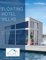 Floating hotel villas