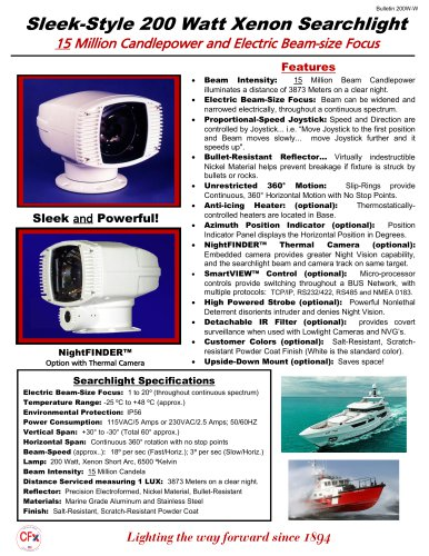 200W Xenon Searchlight