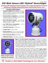 350 Watt Xenon Yacht Searchlight- LED Hybrid Option