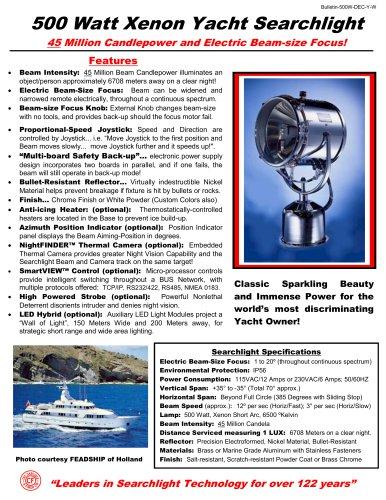 500 Watt Xenon Yacht Finish Searchlight