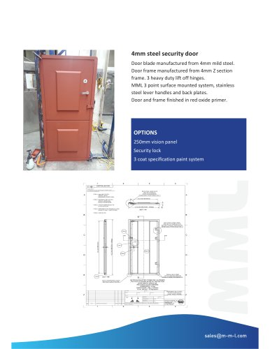 4mm Mild Steel Plate Door