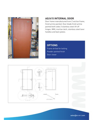 A0 A15 Class Internal Door