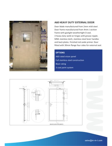 A60 Heavy Duty Fire Door