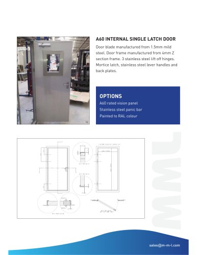 A60 INTERNAL SINGLE LATCH DOOR