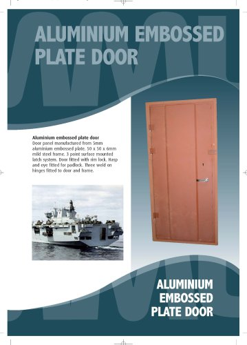 Aluminium Embossed Plate Door