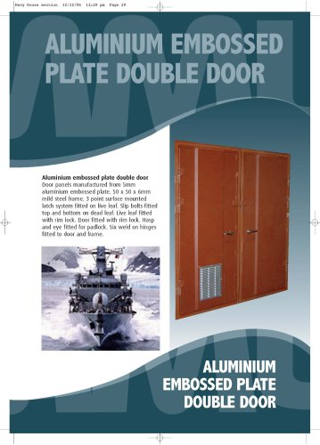 Aluminium Embossed Plate Double Door