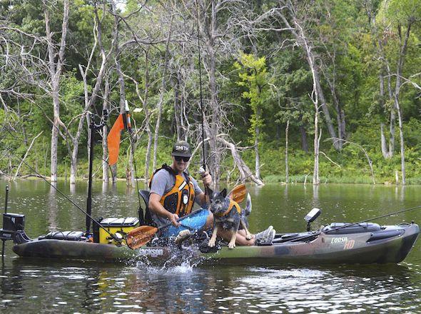 Caiaque sit-on-top / rígido / de pesca / de 1 lugar COOSA HD Jackson Kayak