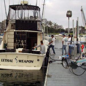 tanque de líquido / para barco / com bomba de transferência / em aço inoxidável