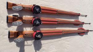 arbalete de pesca submarina em madeira