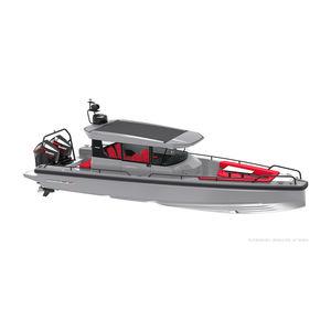 lancha Express Cruiser com motor de popa / bimotor / com casa do leme / de cruzeiro