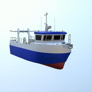 barco profissional barco de pesca profissional / com motor de centro / em alumínio
