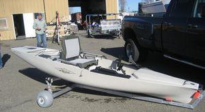 carrinho para lançamento à água / para canoa e caiaque / para barco