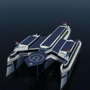 navio de pesquisa oceanográfica trimarã