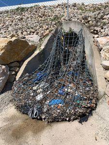 rede para contenção de resíduos