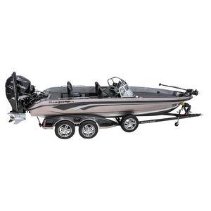 bass boat com motor de popa / com console dupla / de pesca esportiva / máx. 7 pessoas