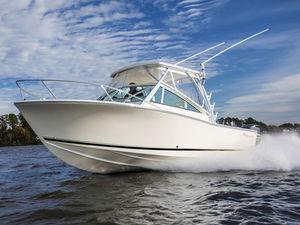 lancha Cabin Cruiser com motor de popa / bimotor / com hard-top / de pesca esportiva