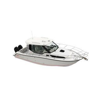 lancha Express Cruiser com motor de popa / bimotor / com casa do leme / de pesca esportiva
