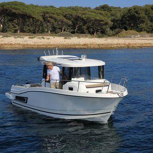 lancha Cabin Cruiser com motor de popa / com casa do leme / rápida / de pesca esportiva