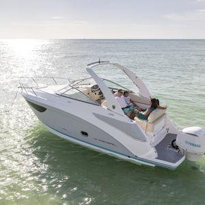 lancha Cabin Cruiser com motor de popa / open / com console dupla / esportiva