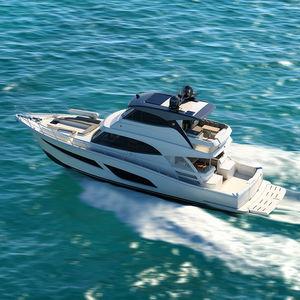 lancha Express Cruiser a diesel / bimotor / com casco planante / com flybridge fechado