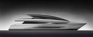 super-iate rápido / com hard-top / com casco de deslocamento / 5 cabines