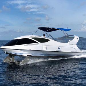 barco profissional barco de passeio / barco de turismo / barco com fundo de vidro / com motor de centro