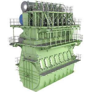 motor para navio lento / a diesel / a gás / bicombustível